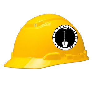 Certified Shovel Operator Hard Hat Helmet Sticker